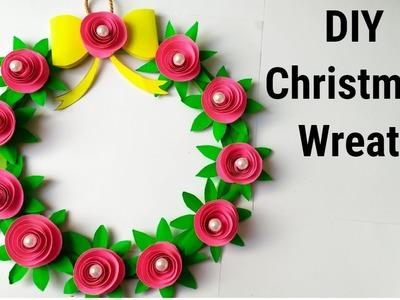 DIY Christmas wreath.How to make paper christmas wreath