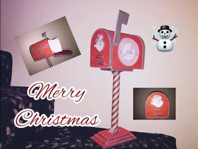 DIY: How to make  Santa's Mailbox using cardboard. Buzon de Santa