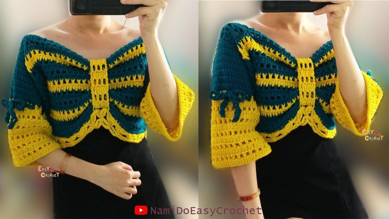Easy Crochet: Crochet Crop Top (Sweater) #10