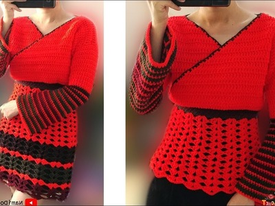 Easy Crochet: Crochet Dress and Sweater #01