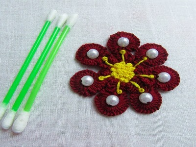 Hand Embroidery Amazing Trick# Easy Flower Embroidery Trick# Amazing Sewing Hack