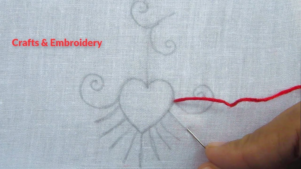 Hand Embroidery, Simple Embroidery Design, Easy Embroidery ...
