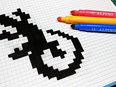 Handmade Pixel Art - How To Draw a Lizard #pixelart