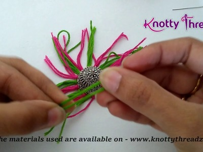 How to add Tassel to Oxidized Jhumka | Tribal Style Jewelry | German Silver | www.knottythreadz.com