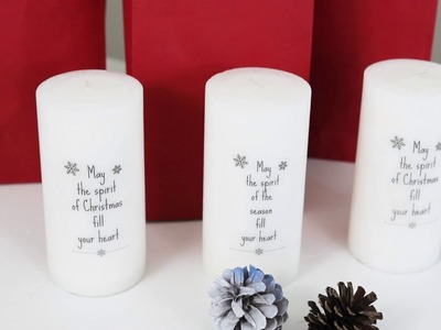 How to add Words and Images to Candles