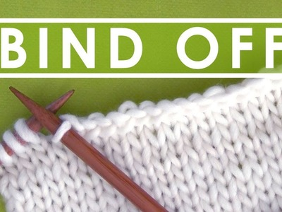 HOW TO BIND OFF ???? Step by Step Slowly with Studio Knit