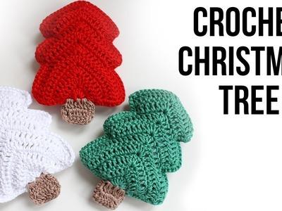 How to crochet a Christmas Tree. Free tutorial. pattern. Easy Crochet