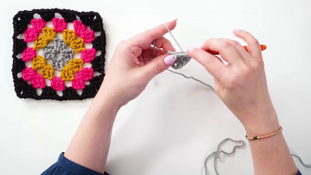 How to Crochet a Granny Square | Bluprint | Michaels