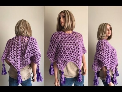 How to Crochet a Shawl Pattern #820│by ThePatternFamily