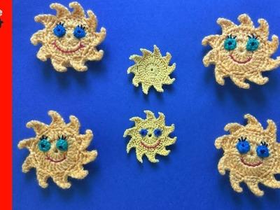How to Crochet a Sun Finger Puppet - Beginner Crochet Tutorial