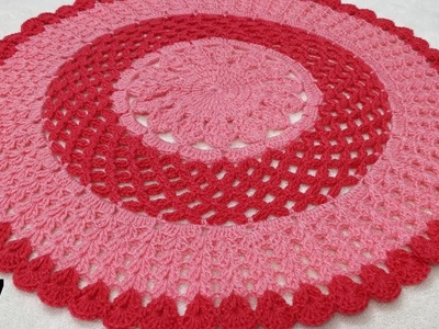 How to Crochet a Thaalposh. Thaal Cover. Table Top #7