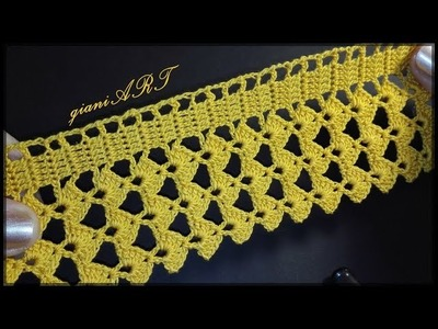 How to Crochet Lace Tape Border step by step