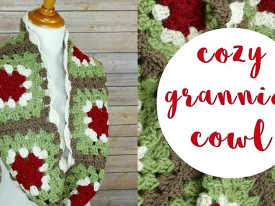 How To Crochet the Cozy Grannies Cowl--Holiday CAL Bonus Pattern!