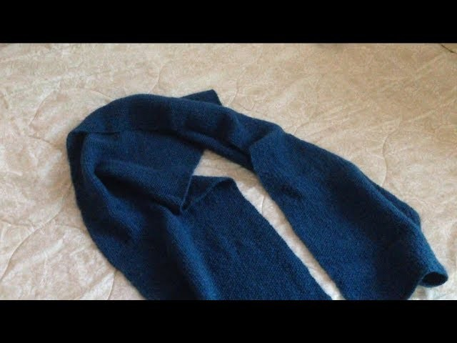 How To Knit a Scarf For BEGINNERS With Seed Stitch  (Step By Step)