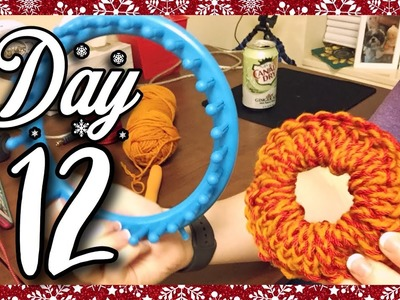 How to Loom Knit a Scrunchie | Vlogmas Day 12