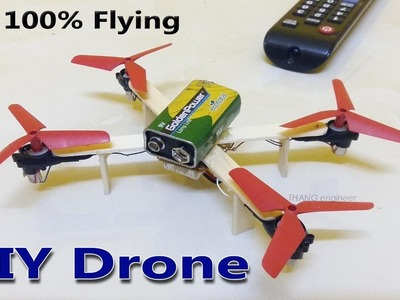 How to make a Battery Drone at Home that 100% flying