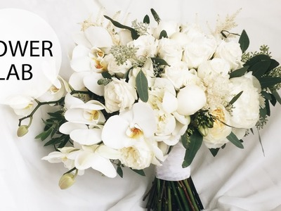 How to Make A Cascading Wedding Bouquet with Orchids