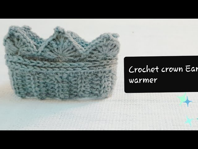 How to make a crochet   crown Ear warmer (any size)Hindi Tutorial