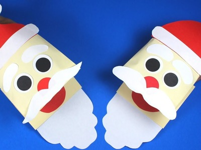 How to Make a Paper Santa Puppet | Christmas Crafts for Kids