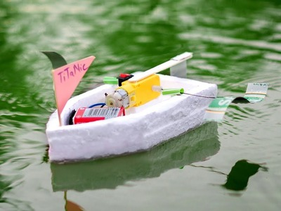How to make a Powerful Water Boat using DC Motor