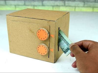 How to Make a Safe with Combination Number Lock from Cardboard
