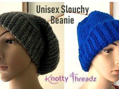 How to make a Slouchy Crochet Beanie | Camel Stitch | Crochet Hat | www.knottythreadz.com