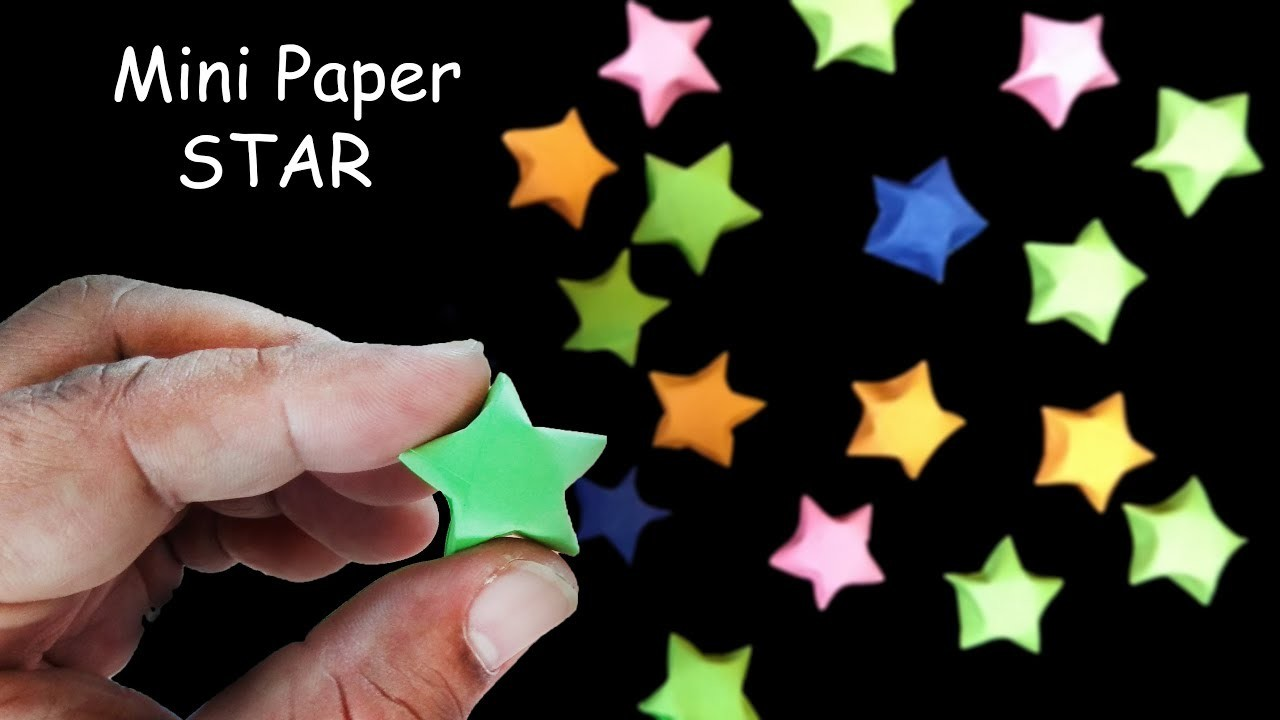 How To Make A Small Paper Star Mini Christmas For Tree Decoration
