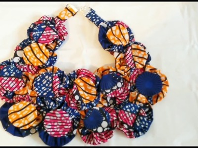 HOW TO MAKE AFRICAN ANKARA STATEMENT NECKLACE