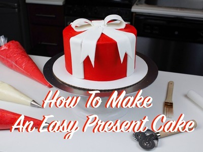 How To Make An Easy Christmas Present Cake | CHELSWEETS