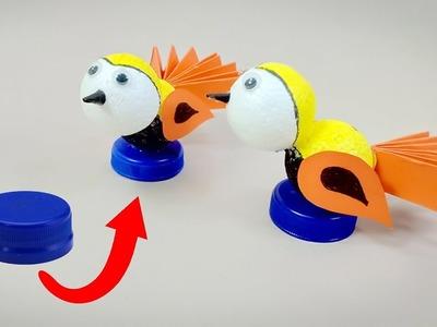 How to make bird from waste | DIY Bird | Crafts Junction