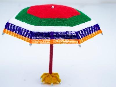 How to make #Diy Umbrella using Wool yarn