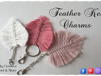 How to make Feather Key Charm | DIY Feather Charm
