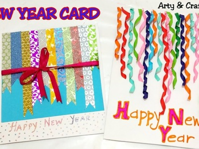How to Make New Year Card.Handmade New Year Card.Greeting Card For New Year 2019 by Arty & Crafty