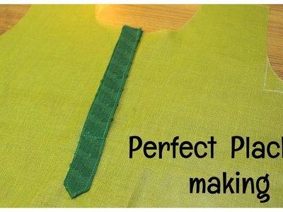 How To Make Perfect Placket | Easy Method