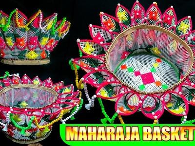 How to make Plastick Canvas or Plastic Net Maharaja Basket.