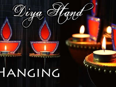 How to make : Wall Hanging Diya Stand | Diwali Special | Art with Creativity