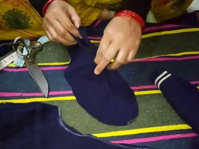 How to make warm socks from old sweater tutorial