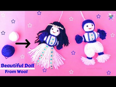 How to make yarn.wool Doll at home | Easy Doll Making Tutorial | DIY Room Decor