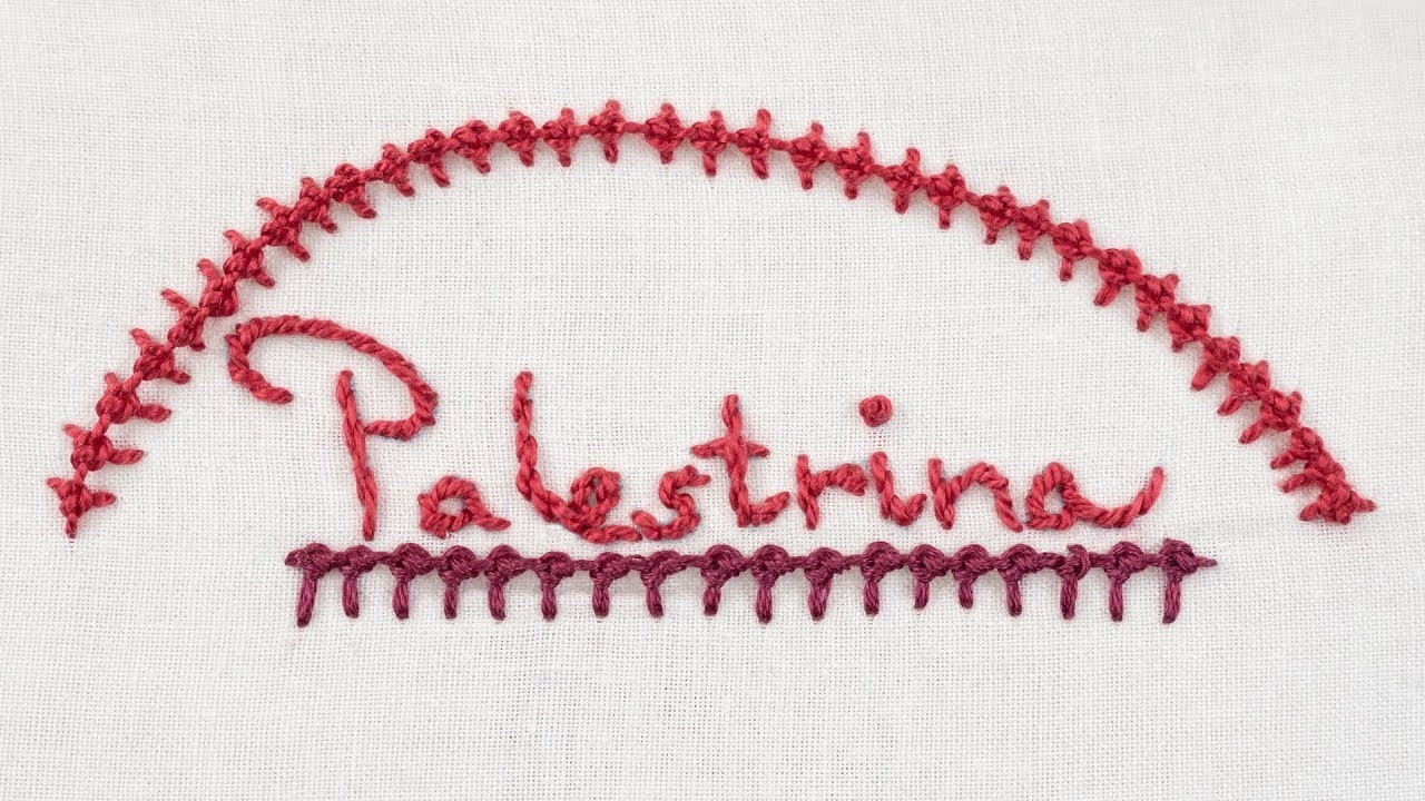 How to Sew a Palestrina Stitch - Hand Embroidery