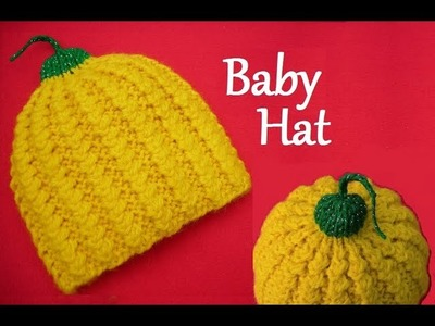 Knitted Baby Hat - Knitting Pattern - How to Knit Ribbed Baby Beanie