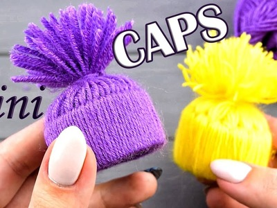 Mini CAPS of paper and yarn WITHOUT KNITTING ????