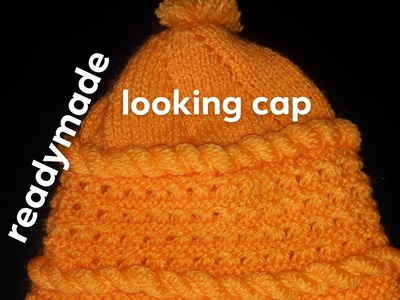 New knitting design|new looking cap design|readymade looking cap|wool cap design