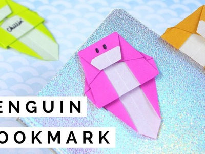 Origami Penguin Bookmark Tutorial - How to Fold a Paper Penguin Bookmark - Easy