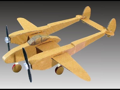 How, P 38 Cardboard Plane Model - how To Make Airplane Using