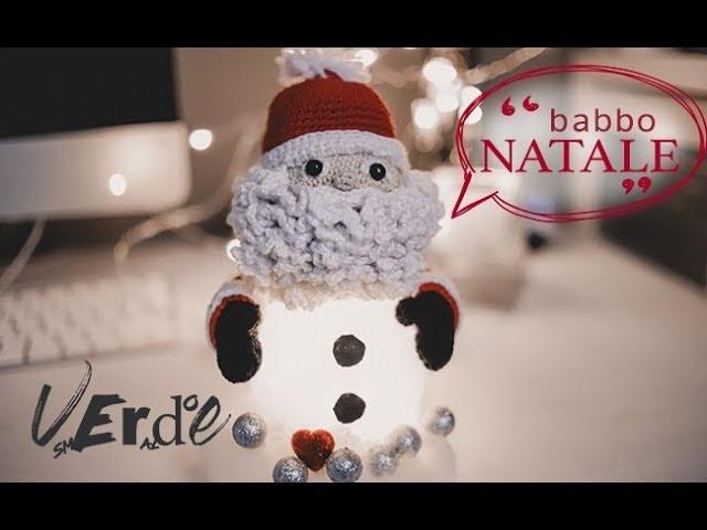 Uncinetto Natale: Babbo Natale lampada- How to do Santa Claus lampshade