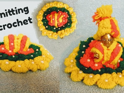 Very Easy Winter.woolen dress for laddu gopal without knitting.bunai.crochet step by step