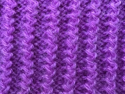 """ZIG  ZAG RIB"" knitting pattern in an easy way  #66 with description in English."