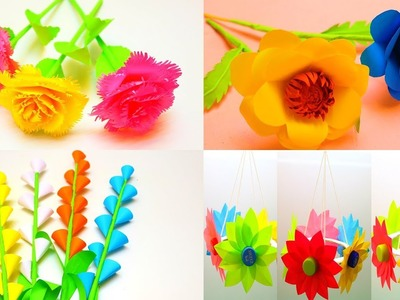10 Beautiful  Paper Flowers | How to make Paper Flowers Very Easy