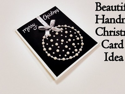 Beautiful Handmade Christmas Card Idea | How to make Christmas card | complete tutorial