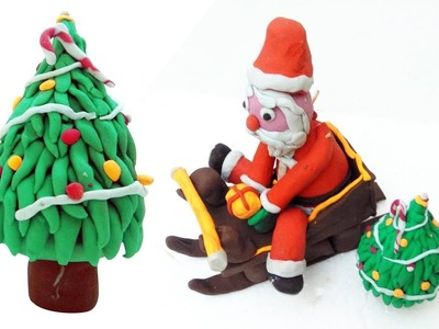 Christmas Tree Clay Art   How To Make A Clay Christmas Tree At Home Easily   Clay Arts